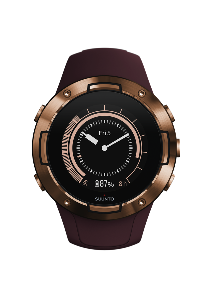 SS050301000 – SUUNTO 5 G1 BURGUNDY COPPER – Front View_Herowatchface-copper