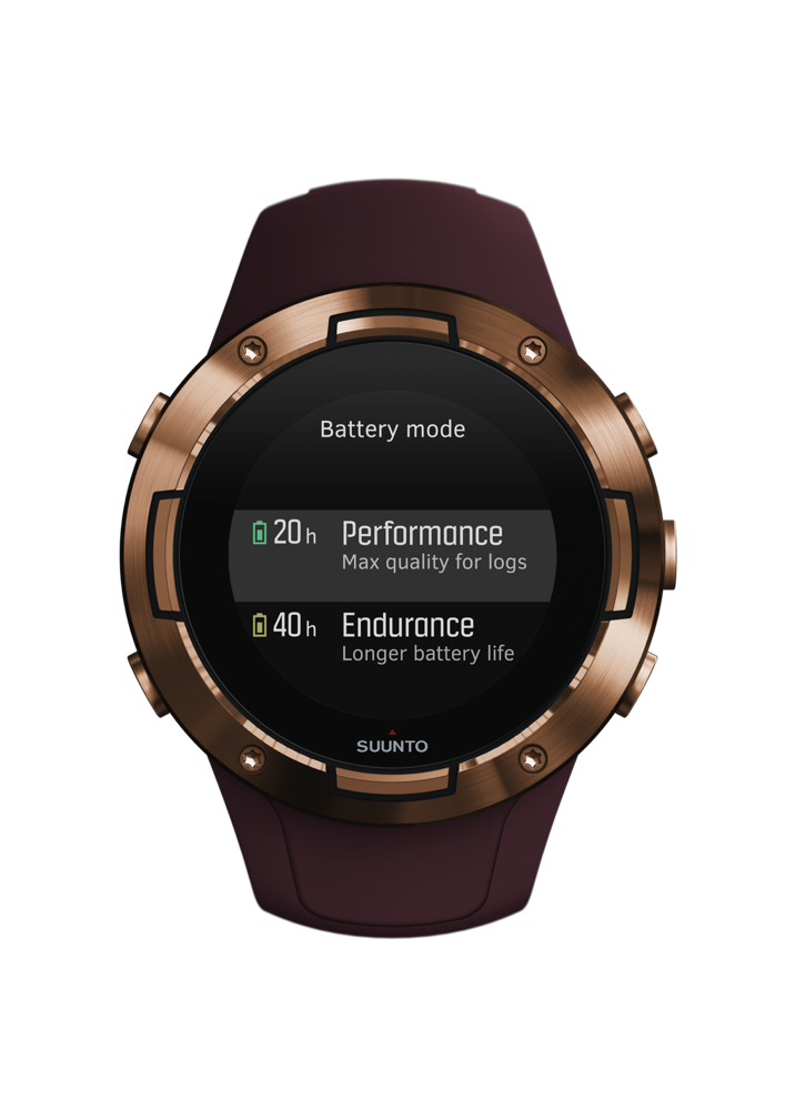 SS050301000+-+SUUNTO+5+G1+BURGUNDY+COPPER+-+Front+View_battery+mode