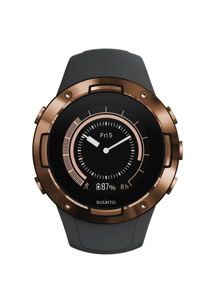 SS050302000+-+SUUNTO+5+G1+GRAPHITE+COPPER+KAV+-+Front+View_Herowatchface-copper