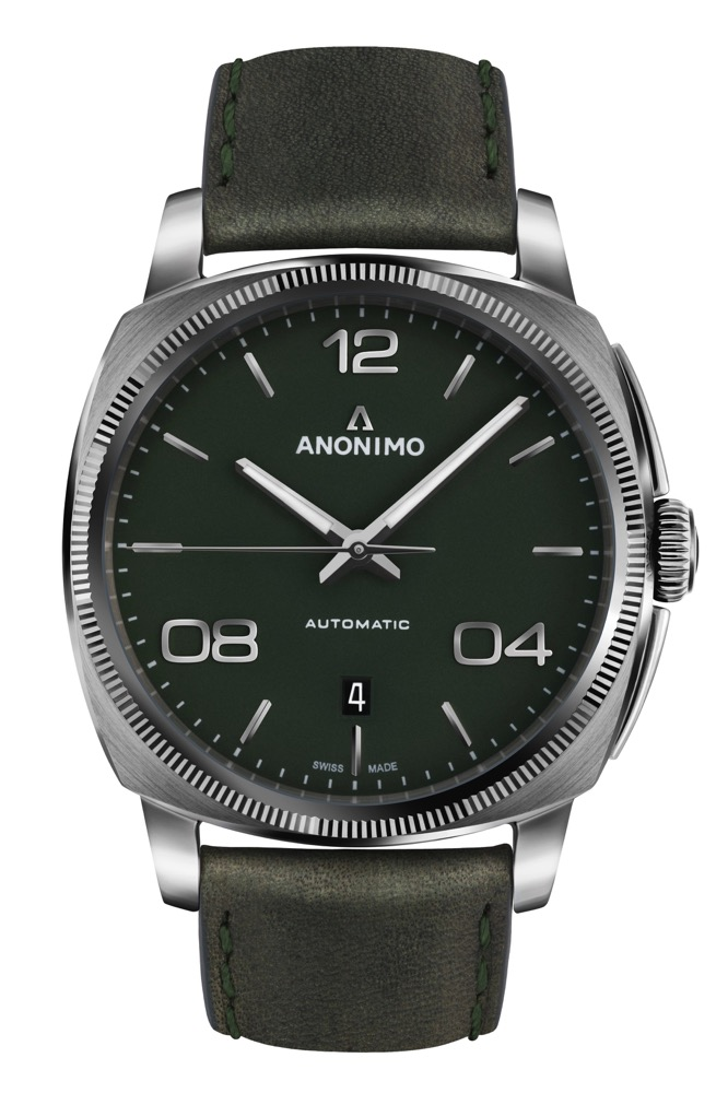 ANONIMO – EPURATO – Stainless steel – Matt green dial – AM-4000.01.107.W66